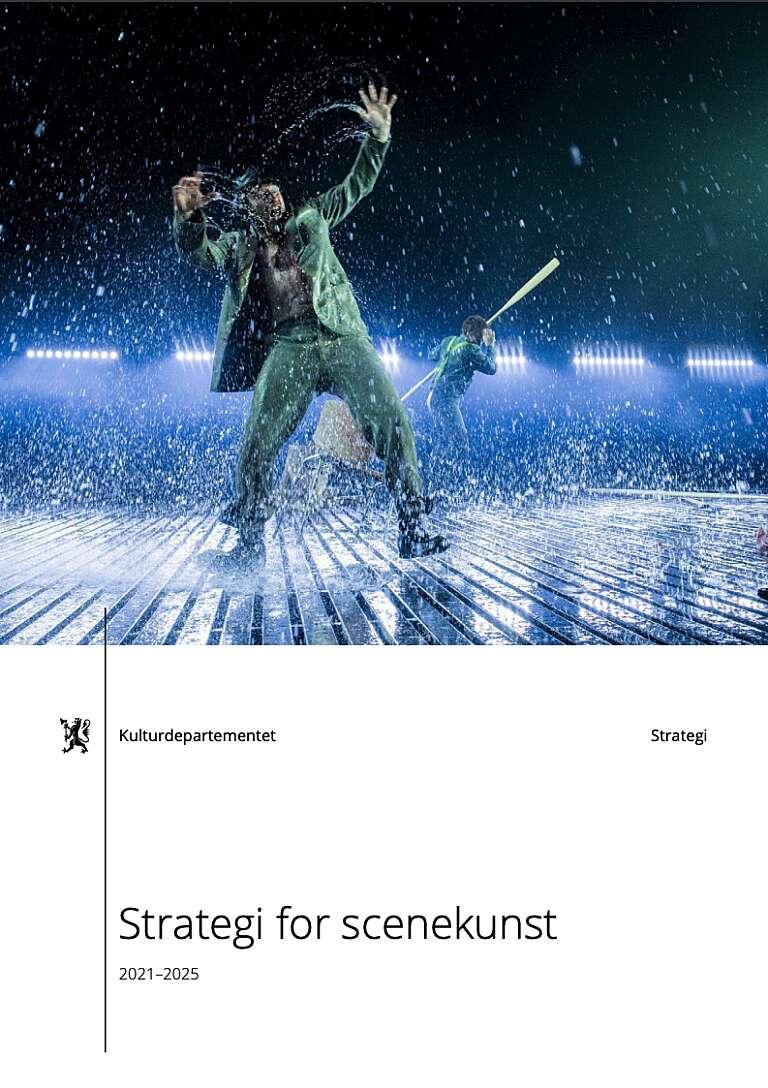 Forside strategi for scenekunst 2021 2025